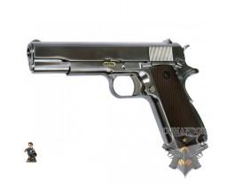 Страйкбольный пистолет M1911 A1, металл, хром