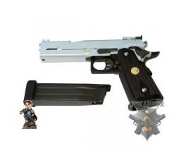 Страйкбольный пистолет Hi-CAPA DRAGON Type B, металл, хром