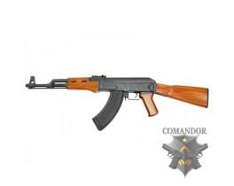 Страйкбольный автомат AK-47 с двигающимся затвором, дерево-металл