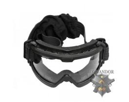 C.R.O.SYSTEM Очки тактические NVG на шлем, 3 смен. монолинзы, черные