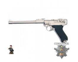 Страйкбольный пистолет Parabellum P-08 LONG, металл, хром