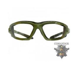 Очки защитные COMBAT, 3 комплекта линз, олива