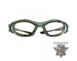 C.R.O.SYSTEM Очки защитные ULTRA, 3 комплекта линз, зел. листва (EY-A003-FOL-GRN)