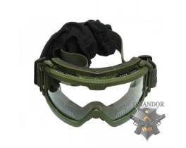 C.R.O.SYSTEM Очки тактические NVG на шлем, 3 смен. Монолинзы, олива