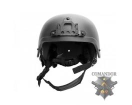 Шлем защитный IBH, подвесная система КОМФОРТ, ABS, черный