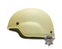 Шлем защитный MICH 2000, подвесная система КОМФОРТ, ABS, песочный цвет
