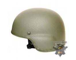 Шлем защитный MICH 2000, подвесная система КОМФОРТ, ABS, олива