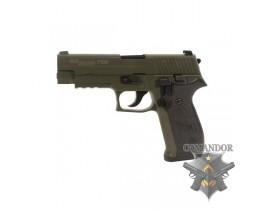 Страйкбольный пистолет P226, металл, зелёный