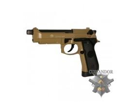 Страйкбольный пистолет Taurus PT 92 AF, металл, песочный, СО2