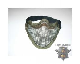 Защита нижней части лица, металл, проволочная, олива