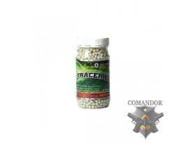 Страйкбольные трассирующие шары 0.20g BB 2400R Green (Tracer BB)