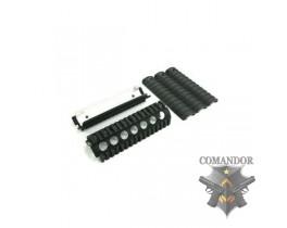 Тактическое цевье для страйкбольного оружия GD M4-A1 RAS (Hard Anodizing/Flat Black) (RAS-02)