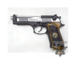 Страйкбольный пистолет Beretta M9 (silver/black)