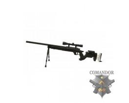 Страйкбольная снайперская винтовка MB-05D Metal sniper rifle (сошки и оптика в комплекте)