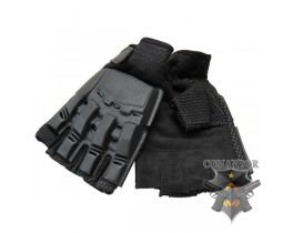 перчатки с пластиковой защитой суставов без пальцев размер: S