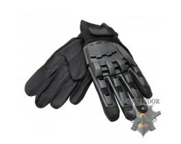 перчатки с пластиковой защитой суставов размер: L