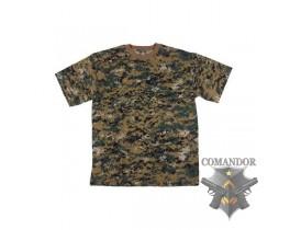 футболка камуфляжная цвет: Digital woodland размер: M