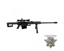 Страйкбольная снайперская винтовка Barrett M82A1 оптика и сошки в комплекте