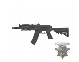 Страйкбольный автомат AKS-74UN Assault Metal Rifle with MOD Stock (CM.040H, BK)