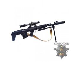 Страйкбольная снайперская винтовка укороченная СВУ-АС (ОЦ-03)