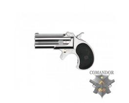 Страйкбольный пистолет Derringer non blowback, хромированный