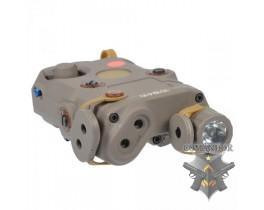 Фонарь FMA PEQ LA5-С красный лазер (песочный)