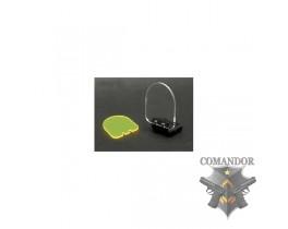Стекло защитное для коллиматорных и оптических прицелов (на RIS планке/черная)
