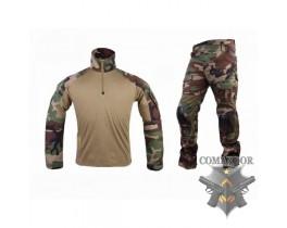 Комплект Emerson Combat Shirt + тактические брюки Gen.2 размер S (woodland)
