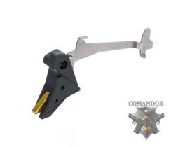УСМ APS Flat Trigger для Glock (черный/золото)