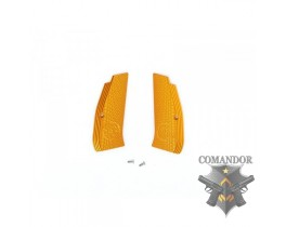 Рукоятка KJWorks пистолетная CZ Logo Aluminium Hand Grip (Orange)