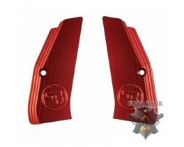 Рукоятка KJWorks пистолетная CZ Logo Aluminium Hand Grip (Red)