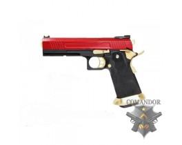 Пистолет AW Custom HX10 Hi-Capa Competition Grade Gas Blowback Pistol - Gold / Red