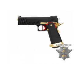 Пистолет AW Custom HX20  Competition Grade Hi-Capa Gas Blowback Pistol - Black / Gold