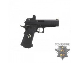 Пистолет AW Custom HX26 Hi-Capa with Docter Gas Blowback Pistol - Black