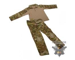 Комплект Emerson Combat Shirt + тактические брюки Gen.3 kids 13-14 (multicam)