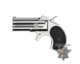 Пистолет Maxtact Derringer Full Metal Double Barrel 6mm - Silver