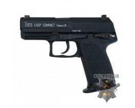 Пистолет Umarex USP Compact Black Licensed by KWA