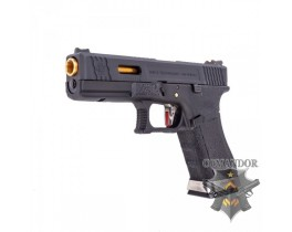 Пистолет WE Glock 17 T1 (gold barrel/black frame)