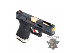 Пистолет WE Glock 19 T1 (gold barrel/black frame)