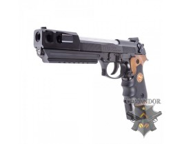 Пистолет WE Beretta BioHazard M92 Extended/Comp version – Auto-only (Brown grip)