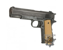"Пистолет AW Custom Full Metal Custom ""Molon Labe"" Weathered 1911A1 - Desert grip"