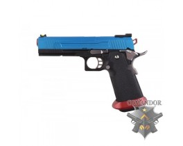 Пистолет AW Custom HX11 Hi-Capa Competition Grade Gas Blowback - Blue