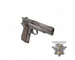 "Пистолет AW Custom Full Metal Custom ""Molon Labe"" Weathered 1911A1 - Brown grip"