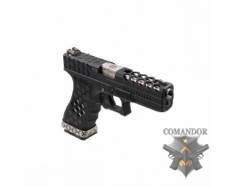 Пистолет AW Custom VX01 Glock Hex cut Gas Blowback - Black