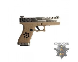 Пистолет AW Custom VX01 Glock Hex cut Gas Blowback - Tan