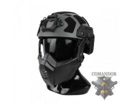 Шлем TMC OpsCore Fast SF в обвесе M/L (Wolf Grey)