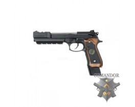 Пистолет WE Beretta BioHazard M92 Extended/Comp version – Semi-only (Brown grip)