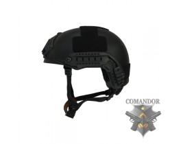 Шлем FMA баллистический OPS Core Aramid BK толстостенный (M/L