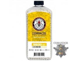 Шары G&G Белые Perfect 0.25g в бутылке (5600 шаров)