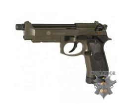 Страйкбольный пистолет Taurus PT 92 AF, металл, зелёный, СО2